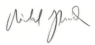 Michal Horáček - Image: Signature horacek