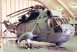 Sikorsky CH-124 Sea King - Sikorsky CH-124A Sea King with blades folded for storage.