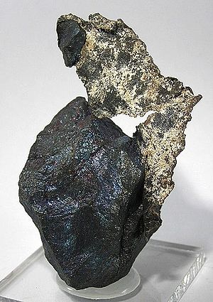 Bornite - Bornite with silver from Zacatecas, Mexico (size: 7.5 x 4.3 x 3.4 cm)