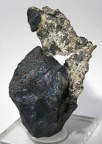 Bornite - Bornite with silver from Zacatecas, Mexico (size: 7.5 × 4.3 × 3.4 cm)