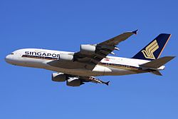 Airbus A380-800 der Singapore Airlines