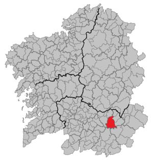 Chandrexa de Queixa - Image: Situacion Chandrexa de Queixa