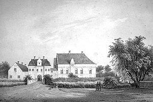 Skaføgård - Skaføgaard, mid nineteenth century