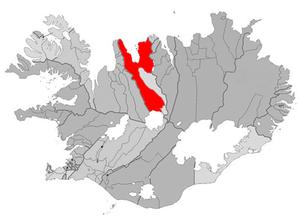 Sauðárkrókur - Image: Skagafjordur map
