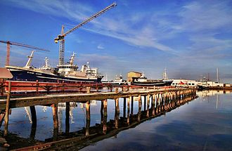 Skagen - Wharf of the Port of Skagen