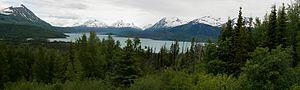 Skilak Lake - The lake seen from Skilak Lake Road