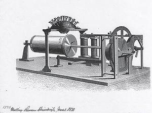 Hansen Writing Ball - Image: Skrivekugle 1870