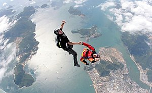 English: skydiving photo