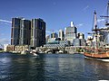 Skyline of Sydney CBD and International Towers Sydney across Cockley Bay, Darling Harbour in 2016, 05.jpg