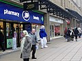 Smurf outside Boots, Market Street, Halifax - geograph.org.uk - 1728022.jpg