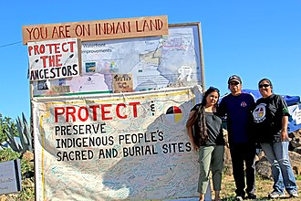 Recognition of Native American sacred sites in the United States - Protesters at Sogorea Te (Glen Cove) on Day 98—Natives gain jurisdiction of sacred sites and ancestral lands
