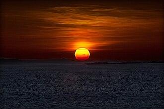 Sálvora - Sunset above the island of Sálvora