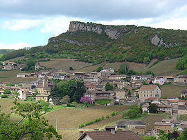 A general view of Solutré-Pouilly
