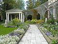 Sonnenberg Gardens and Mansion State Historic Park Blue and White Garden Mansion View.JPG