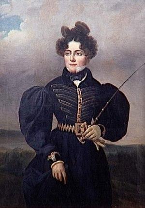 Sophie Dawes, Baronne de Feuchères - Portrait of Sophie Dawes, Baronne de Feuchères, by Alexis Leon Louis Valbrun