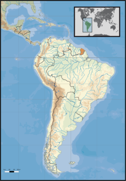 South America location FRA-GUY