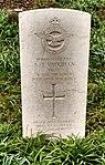 Southease Church, A J Vaughan RAF grave.jpg