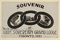 Souvenir of IOOF Sovereign Grand Lodge, Toronto 1921 (HS85-10-39215).jpg