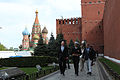 Soyuz TMA-13M crew at the Kremlin Wall.jpg