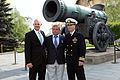 Soyuz TMA-13M crew in front of the Tsar Cannon at the Kremlin.jpg