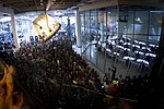 SpaceX employees watch the Falcon 9 SES-8 launch from Spacex headquarters in Hawthorne, CA.jpg