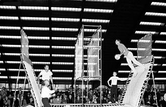 Trampoline - 1968 demonstration of Spaceball