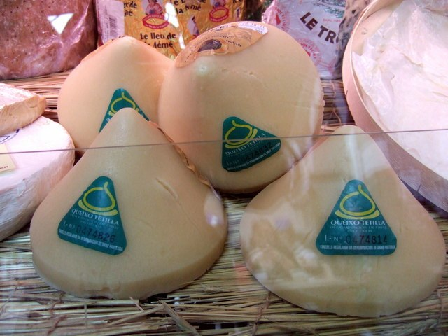Spanish cheese in Cardigan market - geograph.org.uk - 336458