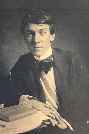 Spencer Baird Nichols - The painter Spencer Baird Nichols photographed at age 24 by his brother Hobart in 1899.