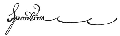 Spontini signature from Olympie Overture ms page - Internet Archive