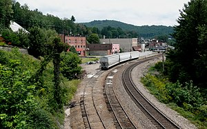 Spruce Pine, North Carolina - Railroad tracks and train station in Spruce Pine.