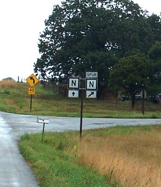 Missouri supplemental route - Image: Spur N