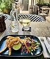 Squid wIth asian slaw at Hunter & Scout Café, Graceville, Queensland.jpg