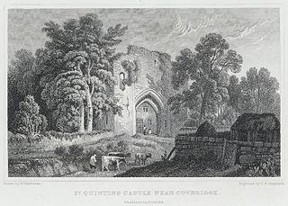 St. Quintins castle near Cowbridge, Glamorganshire