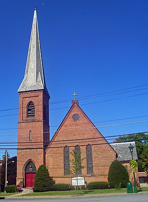 Charles Babcock - St. Andrew's Episcopal Church in Walden, NY, designed by Babcock in 1871.