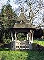 St Andrew, Kilverstone, Norfolk - Lych gate - geograph.org.uk - 1700086.jpg