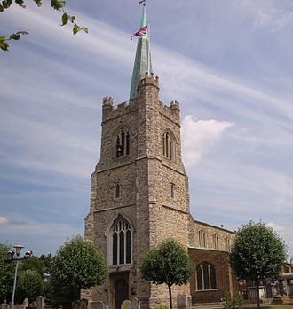 Grade I and II* listed buildings in the London Borough of Havering - Image: St Andrews Church, Hornchurch
