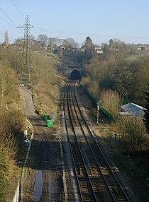 St Annes Park railway station MMB 02.jpg