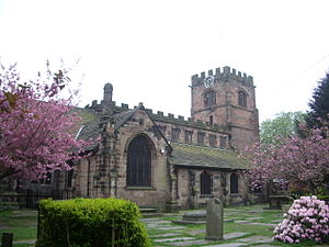 Grade I listed churches in Greater Manchester - Image: St Mary's Church, Cheadle