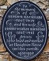 St Michael's Church, Amberley, tablet in memory of Arthur Rackham.jpg