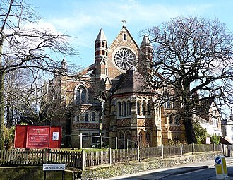 St Peter's Church, Streatham - Image: St Peter, Leigham Court Road geograph.org.uk 1742977