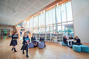 St Swithun's School, Winchester - Atrium of the new Junior School