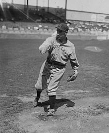 A man on a pitcher's mound