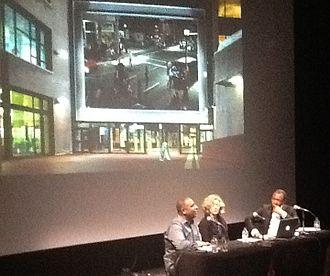 Stan Douglas - Stan Douglas, Christine Ross and Okwui Enwezor at Musée d'art contemporain de Montréal