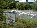 Standing waves on the weir at Peebles - geograph.org.uk - 1474227.jpg
