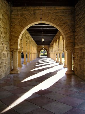 Light and Shadow cast by Arches of the Main Qu...