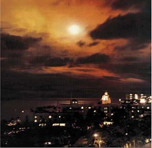 Starfish Prime - Another view of Starfish Prime through thin cloud, as seen  from Honolulu