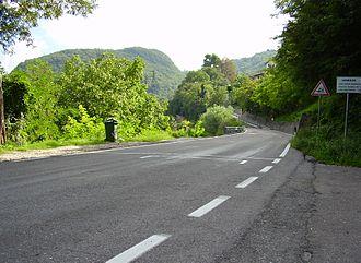 Trento-Bondone Hill Climb - Image: Start Trent Bondone