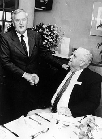Joh Bjelke-Petersen - Bjelke-Petersen (left) with minister Russ Hinze
