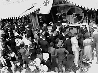 Ekka - Chocolate Wheel at the Ambulance stall, Exhibition Ground, Brisbane, 1938.