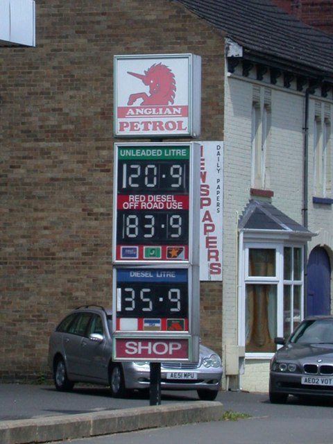 Station Road Garage - prices - geograph.org.uk - 847101